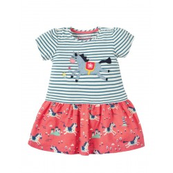 Dress - Frugi - SS19 - Little Laura Dress -  Lyonesse Legend Horse - 0-3, 3-6, 6-12, 12-18, 18-24m, and 2-3, 3-4y