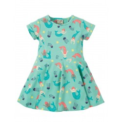 Dress - Frugi - SS19 -Little Spring Skater Dress - St Agnes Mermaid Magic- 0-3, 3-6, 6-12, 12-18, 18-24m, and 2-3, 3-4y
