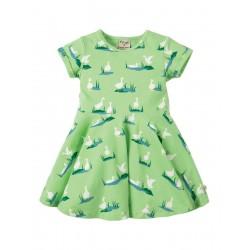 Dress - Frugi - Skater dress - Duck Green Ponds - 2-3, 3-4y - sale