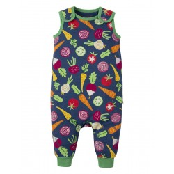 Dungarees - Frugi - SS19 - drop 2 - Kneepatch Dungaree - Homegrown - 0-3, 3-6, 6-12, 12-18, 18-24m and 2-3y - new