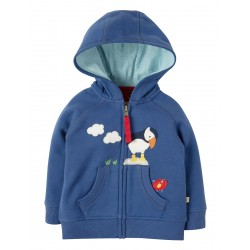 Hoody - Frugi - SS19 - Hayle - Marine Blue Puffin -   18-24,  and 2-3 , 3-4y - new