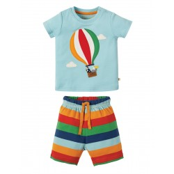 Pyjamas - Frugi - SS19 - drop 2- Little Perran  PJ - Tidal Blue Hot Air Balloon - 0-3, 3-6, 6-12, 12-18, 18-24m and 2-3, 3-4y - new