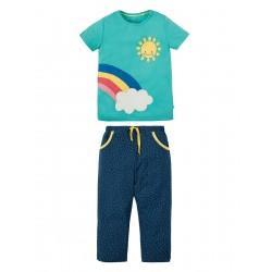 Pyjamas - Frugi - ss19 - drop 2 - Petal Pocket PJ - St Agnes Rainbow - 2-3, 3-4, 4-5, 5-6, 6-7, 7-8, 8-9, 9-10y - new