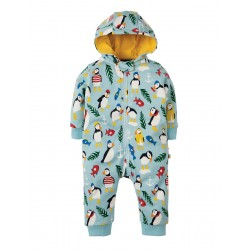 Snuggle suit - Frugi - SS19 - Tidal Blue Paddling Puffins -  3-6m  - last one in sale