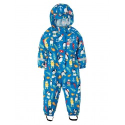 Puddle Buster- Frugi - SS19 - drop 2 - Puddle Buster suit - Sail Blue Paddling Puffins - 2-3, 3-4,4-5 y - new
