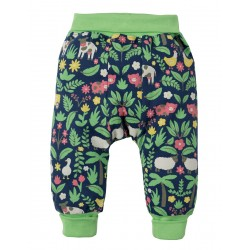 Pants - Frugi Parsnip - SS19 - drop 2 - Marine Blue Farm Floral - 6-12, 12-18, 18-24m and 2-3 , 3-4y - new