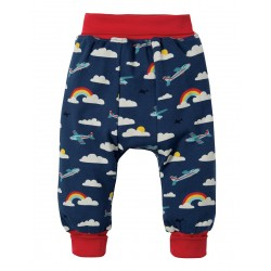 Pants - Frugi Parsnip - SS19 - Marine Blue Fly Away Plane -   0-3, 3-6, 6-12, 12-18, 18-24, 2-3,, 3-4y - new