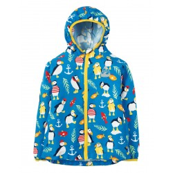 Puddle Buster- Frugi - ss19 - drop 2 - Puddle Buster Pack Away Jacket- Sail Blue Paddling Puffins - 1-2, 2-3, 3-4, 4-5, 5-6, 6-7, 7-8, 8-9, 9-10 - new