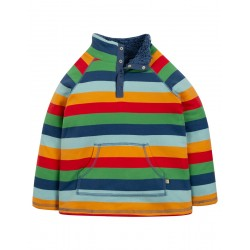 Fleece - Frugi - SS19 - drop 2- Multi Rainbow Stripe = 12-18, 18-24m and  2-3, 3-4, 4-5, 5-6, 6-7, 7-8, 8-9, 9-10y - new