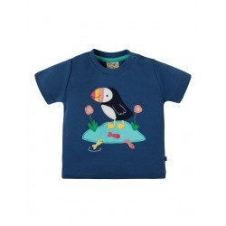 Top - Frugi - SS19 - Little Creature Marine Blue Puffin -  independent shops exclusive -   12-18, 18-24m and 2-3, 3-4y - new