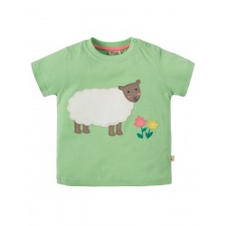 Top - Frugi - Polkeris - Soft green Sheep - last item 45% off -  clearance sale