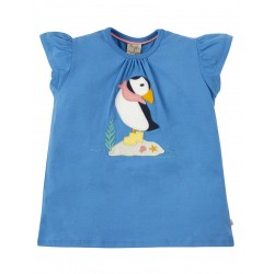 Top - Frugi - SS19 - Ellie - Sail Blue Puffin - Independent shop exclusive - , 8-9, 9-10y - new
