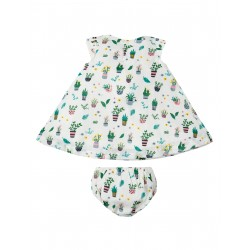 Set - Frugi - SS19 - drop 3 - Stunning Dolly Muslin Outfit - Greenhouse - 12-18m, 18-24, 2-3, 3-4y - new
