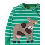 Babygrow - Frugi - SS19 - drop 3 -  Swoop - Field Chunky Breton Cow - 0-3, 3-6, 6-12m  - new