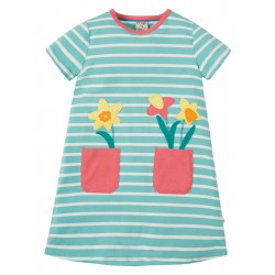 Dress - Frugi - SS19 - Paige Pocket Dress - St Agnes Breton Daffodils  - 2-3, 5-6, 7-8, 8-9, 9-10y - new