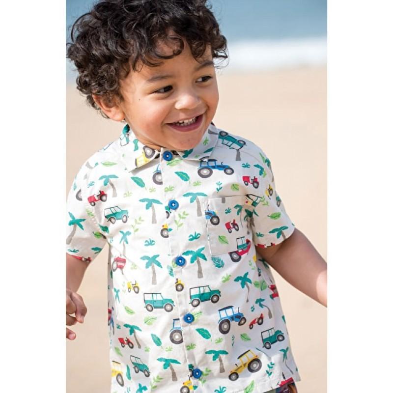 cb1a388df ... Top - Frugi - - Harvey Hawaiian Shirt - Tropical Tresco - 12-18m and