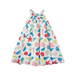 Dress - Frugi -  Tabitha Trapeze Dress - Beachcombing -  4-5y - last item - 45% clearance sale - no return
