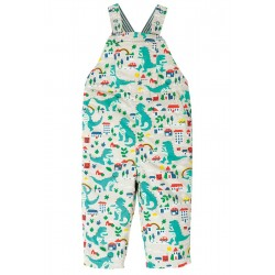 Dungarees - Frugi - Rory - reversible - seersucker and stripe Dino - 6-12, 12-18, 18-24m and 2-3 , 3-4 yr sale