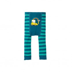 Leggings - Frugi - Knitted Leggings - Aqua Tractor - 0-6, 6-12m and 1-2, 2-4y - sale offer