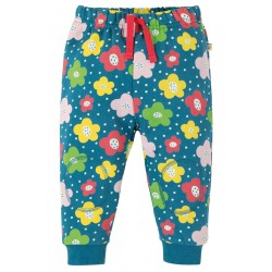 Trousers - Frugi - Crawlers - Steely Blue Floral Spot - 6-12m and 2-3, 3-4 y - sale promotion