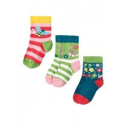 Socks - Frugi - Deer  3pc  - sale