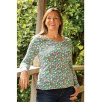 ADULT - Top - Frugi - Adult - Bryer - Bunny Rabbit fields - adult 14 -- last one  sale offer