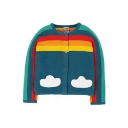 Cardigan - Frugi - Skyler  - Rainbow - 12-18, 18-24, 2-3, 3-4 - sale promotion