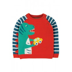 Jumper - Frugi - Wilfred - Dino - 12-18, 18-24 m and 2-3y - sale offer