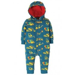 Spring and Summer 2020  - Snuggle suit - Frugi - Dig a rainbow - 0-3, 3-6,, 6-12, 12-18, 18-24m - NEW