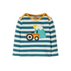 Top - Frugi - Bobby -Tractor -  0-3, 3-6, 6-12, 12-18, 18-24m and  2-3 ,3-4y - sale offer