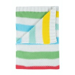 Blanket - Frugi - Welcome Home - Rainbow Stripe - sale promo - limited time