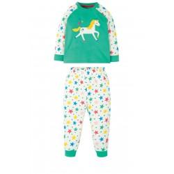 Pyjamas - Frugi -  Ace  PJ - Sleep - Aqua star - unicorn  - sale