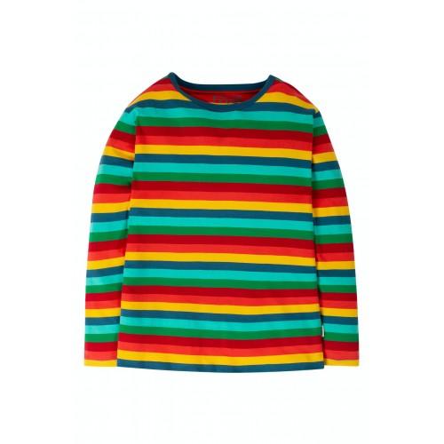 ADULT - Frugi - Top -  Steely Blue Multi stripe -  long sleeve -  extra large   - XL  - last 2 - sale