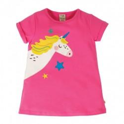 Top - Frugi - Lizzie - Pink Unicorn - sale