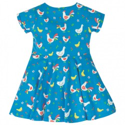 Dress - Frugi - Skater - Short Sleeved - Bantam Chicken - 12-18m  last item 45% off clearance - sale