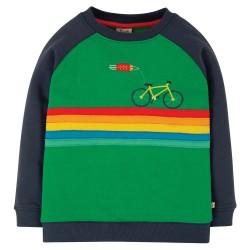 Jumper - Frugi - Rocco - Green Bike - sale