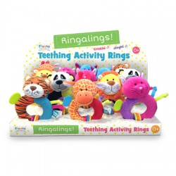 Toy - Ringaling - Choice - giraffe, elephant, cat, tiger, lion, dog, duck, cow - 1x supplied