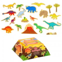 Toy - Pre school - Wood magnets - T-rex or Fairies