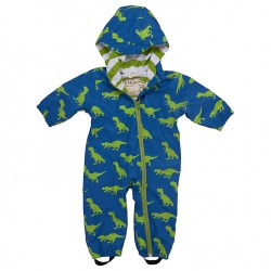 Bundler - Hatley Baby T-Rex Dinosaur Waterproof Pramsuit, Blue/Green 2-3y  sale