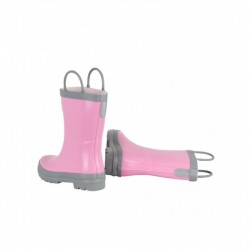 Boots - Hatley - Welly Boots - Girls Pink & Gray  - shoe  8, 9, 12 - sale
