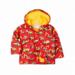Raincoat - Hatley Heavy Machinery - size - yr - 5, 7, 8,y , also infant size 18-24m - sale
