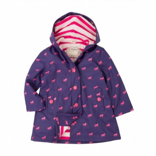 Raincoat - Hatley  Splash Jacket - Miniature Horses -  6y - sale