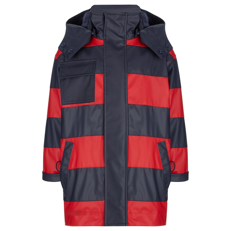 raincoat - hatley splash navy and red clearance sale