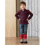 Jacket - Hatley Rugby  - Navy and red stripes in SALE , 5, 6, 7y
