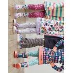 Leggings - Hatley Girls Ruched in Azure Flowers 5, 7y