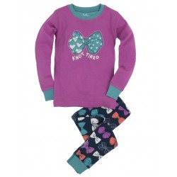 PJ - Hatley Girls Party bows - Knot tired -  4y