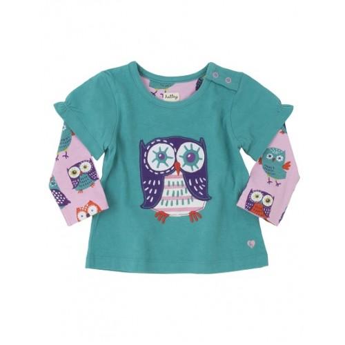 Top - Hatley Baby Party owls 6-12m