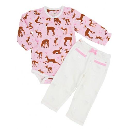 Set - Hatley Baby girls - Silver deers - SALE  6-12m