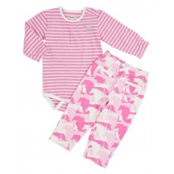 Set - Hatley Baby girls  - 2pc set -  Horses -  SALE  6-12m