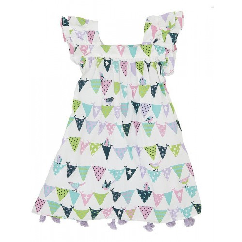 Dress - Hatley Bunting Birds  Flutter Sleeve -  6y last one